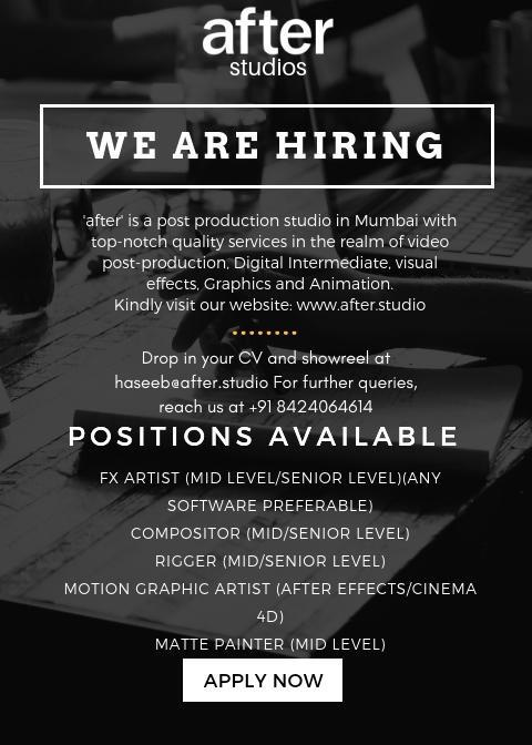 Latest Animation and VFX job openings after